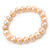 9mm Classic Pale Pink Freshwater Pearl Stretch Bracelet - 17cm L - view 4