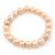 9mm Classic Pale Pink Freshwater Pearl Stretch Bracelet - 17cm L