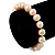 9mm Classic Pale Pink Freshwater Pearl Stretch Bracelet - 17cm L - view 3