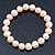 9mm Classic Pale Pink Freshwater Pearl Stretch Bracelet - 17cm L - view 2