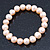 9mm Classic Pale Pink Freshwater Pearl Stretch Bracelet - 17cm L - view 7