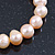 9mm Classic Pale Pink Freshwater Pearl Stretch Bracelet - 17cm L - view 6
