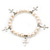 10mm Freshwater Pearl With Cross Charm Stretch Bracelet (Silver Tone) - 20cm L - view 7