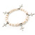 10mm Freshwater Pearl With Cross Charm Stretch Bracelet (Silver Tone) - 20cm L - view 8