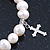 10mm Freshwater Pearl With Butterfly and Cross Charm Stretch Bracelet (Silver Tone) - 20cm L - view 4