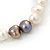 9mm Classic Light Cream and Grey Freshwater Pearl Stretch Bracelet - 18cm L - view 6
