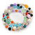 Multicoloured Semi-Precious Stone, Freshwater Pearl and Crystal Bead Flex Bracelets - Set Of 4 Pcs - 18cm L - view 7