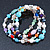 Multicoloured Semi-Precious Stone, Freshwater Pearl and Crystal Bead Flex Bracelets - Set Of 4 Pcs - 18cm L - view 4