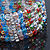 5 Strand Multicoloured Glass Bead Flex Bracelet With Crystal Bars - 20cm L - view 5