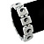 White 'Yin Yang' Stretch Wooden Icon Bracelet - Adjustable - view 3
