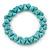 Contemporary Bone Shape Turquoise Bead Flex Bracelet - 19cm L - view 4