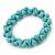 Contemporary Bone Shape Turquoise Bead Flex Bracelet - 19cm L