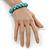 Contemporary Bone Shape Turquoise Bead Flex Bracelet - 19cm L - view 5