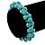 Contemporary Bone Shape Turquoise Bead Flex Bracelet - 19cm L - view 2