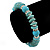 Classic Turquoise Bead With Crystal Ring Flex Bracelet - 19cm L - view 2
