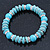 Classic Turquoise Bead With Crystal Ring Flex Bracelet - 19cm L - view 6
