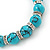 10mm Classic Turquoise Bead With Crystal Ring Flex Bracelet - 19cm L - view 5