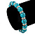 10mm Classic Turquoise Bead With Crystal Ring Flex Bracelet - 19cm L - view 3