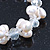 9mm White Off Round Freshwater Pearl Cluster Flex Bracelet - 17cm L - view 4