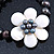 12mm Grey/ White Freshwater Pearl Flex Bracelet With A Mother Of Pearl Central Flower - 17cm L - view 7