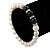 8mm - 9mm White Freshwater Pearl with Semi-Precious Black Agate Stone Stretch Bracelet - 18cm L - view 3
