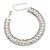 Bridal/ Wedding/ Prom/ Party Austrian Crystal, White Glass Pearl Bracelet In Rhodium Plating - 18cm L/ 5cm Ext