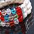 3 Row Cream Freshwater Pearl, Multicoloured Crystal Bead Flex Bracelet - 19cm L - view 6