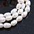 3 Row Cream Freshwater Pearl, Multicoloured Crystal Bead Flex Bracelet - 19cm L - view 4