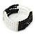 5-Strand Black/ Transparent Glass Bead Flex Bracelet With Crystal Bars - 20cm L - view 6