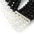 5-Strand Black/ Transparent Glass Bead Flex Bracelet With Crystal Bars - 20cm L - view 4