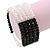 5-Strand Black/ Transparent Glass Bead Flex Bracelet With Crystal Bars - 20cm L - view 2