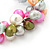 10mm Multicoloured Freshwater Pearl Cluster Stretch Bracelet - 20cm L - view 5