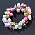10mm Multicoloured Freshwater Pearl Cluster Stretch Bracelet - 20cm L - view 6