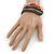 Unisex Handmade Multicoloured Cotton Woven Friendship Bracelet - Adjustable - view 4
