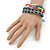 Unisex Handmade Multicoloured Cotton Woven Friendship Bracelet - Adjustable - view 3