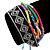 Unisex Handmade Multicoloured Cotton Woven Friendship Bracelet - Adjustable - view 2