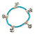 Delicate Turquoise Bead With Elephant Charm Flex Bracelet - 18cm L - view 3