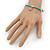 Delicate Turquoise Bead With Elephant Charm Flex Bracelet - 18cm L - view 2