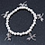 Silver Tone Metal Bead With Dragonfly Charm Flex Bracelet - 18cm L - view 3