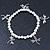 Silver Tone Metal Bead With Dragonfly Charm Flex Bracelet - 18cm L - view 5