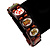 Indian Religious Brown Wood Ganesh & OM Stretch Icon Bracelet - 18cm L - view 3