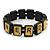 Black Wood 'Nerd' Stretch Icon Bracelet - 18cm L
