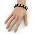 Black Wood 'Nerd' Stretch Icon Bracelet - 18cm L - view 3