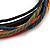 Unisex Multicoloured Multi Cotton and Leather Cord Friendship Bracelet - Adjustable - view 2