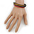 Unisex Multicoloured Multi Cotton and Leather Cord Friendship Bracelet - Adjustable - view 3