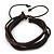 Unisex Dark Brown Multi Cotton, Leather Cord Friendship Bracelet - Adjustable
