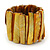 Wide Honey Yellow Shell Bar Stretch Bracelet - up to 20cm L