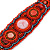 Handmade Boho Style Beaded, Shell Wristband Bracelet (Orange, Red, Hematite) - 18cm L - view 5