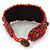 Handmade Boho Style Beaded, Shell Wristband Bracelet (Orange, Red, Hematite) - 18cm L - view 7