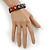 Multicoloured Wooden Owl Flex Bracelet - Adjustable - view 3